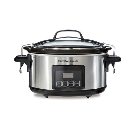 Hamilton Beach Programmable Stay or Go 6 Quart Slow Cooker