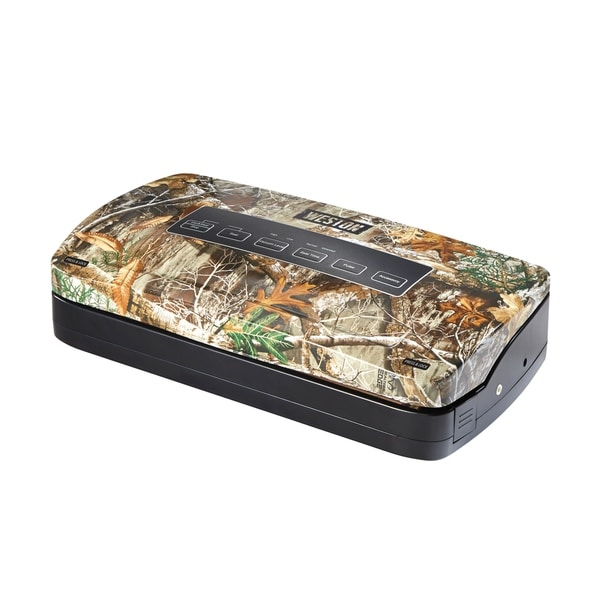 Weston Realtree Edge Vacuum Sealer with Roll Storage and Bag Cutter