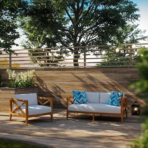 Northlake 2 Piece Outdoor Patio Premium Grade A Teak Wood Set
