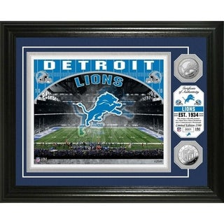 Detroit Lions Stadium Silver Coin Photo Mint