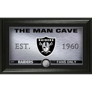 Raiders Man Cave Panoramic Minted Coin Photo Mint