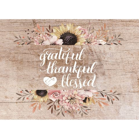 Asher Home Grateful, Thankful, Blessed 4-pack Placemat Set