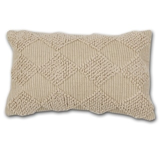 The Curated Nomad Quane Handwoven Ivory Accent Pillow
