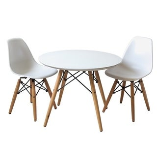 Eiffel Kids 3 Piece Round Writing Table and Chair Set - N/A