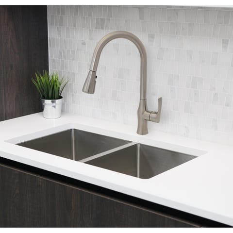 Single Handle Pull Down Brushed Nickel Kitchen Faucet K-138B