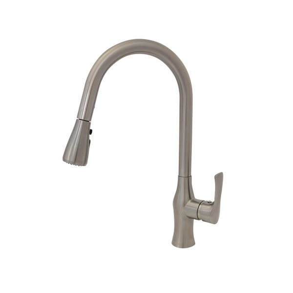Kitchen Faucet Dual Mode Brushed Nickel 1 Lever Pull Down Sprayer Tap Stainless