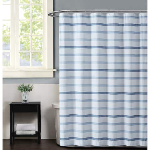 Truly Soft Waffle Stripe Shower Curtain