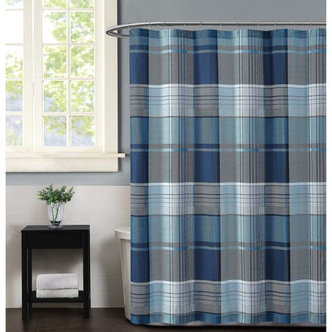 Truly Soft Trey Plaid Shower Curtain