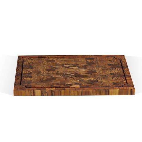 Rectangular Teak Cutting Board with Juice Groove - L