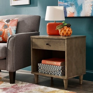 Link to Strick & Bolton Vilas Light Charcoal Nightstand Similar Items in Bedroom Furniture