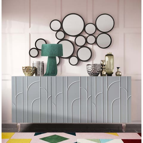 Deco Grey Lacquer Buffet - N/A
