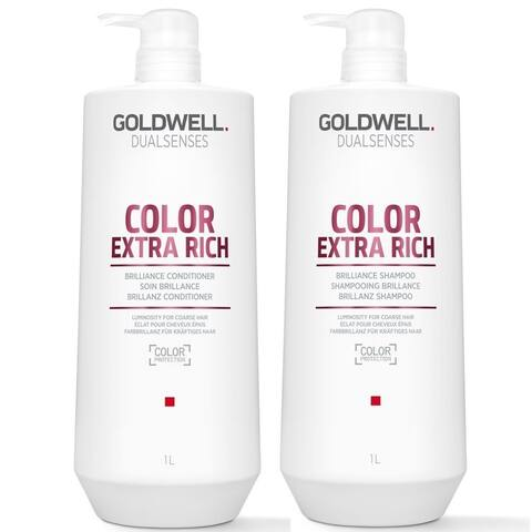 Goldwell Dualsenses Color Extra Rich Brilliance Shampoo & Conditioner Duo Set Liter