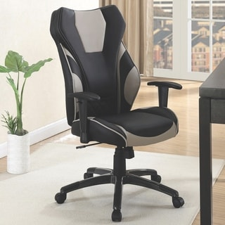 Racer Black and Grey Ergonomic Gaming Office Chair with Adjustable Arms