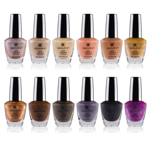 The SHANY Cosmetics Nail Polish Set with 12 Semi Glossy and Shimmery Finishes