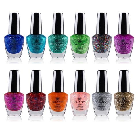 The SHANY Cosmetics Nail Polish Set with 12 Semi Glossy and Shimmery Finishes