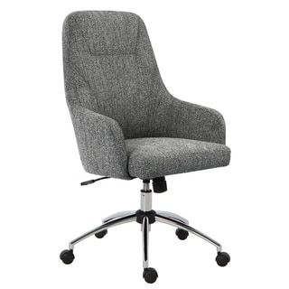 HomePop High-Back Swivel Office Chair - Textured Gray