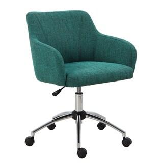 Carson Carrington Tallasen Textured Teal Swivel Office Chair