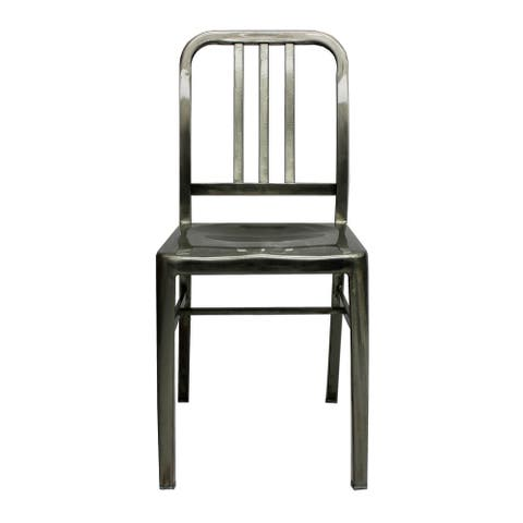 Navy Retro Steel Dining Chair (SET OF 2)