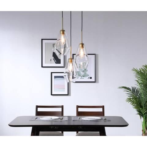 Gerald 3-light Modern Elongated Glass Hanging Pendant