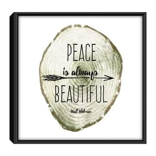 Star Home Décor Peace Is Always Beautiful By Andy 12x12 Frame Canvas Print
