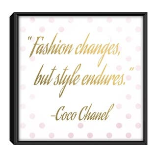 Star Home Décor Fashion Change But Style By Denzel 12x12 Frame Canvas Print