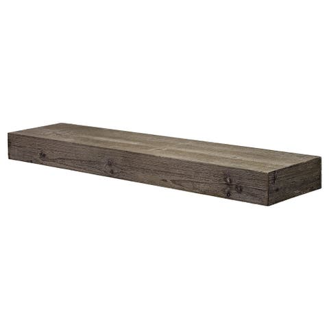 The Gray Barn Haven Rustic Wood Floating Wall Shelf (Large)
