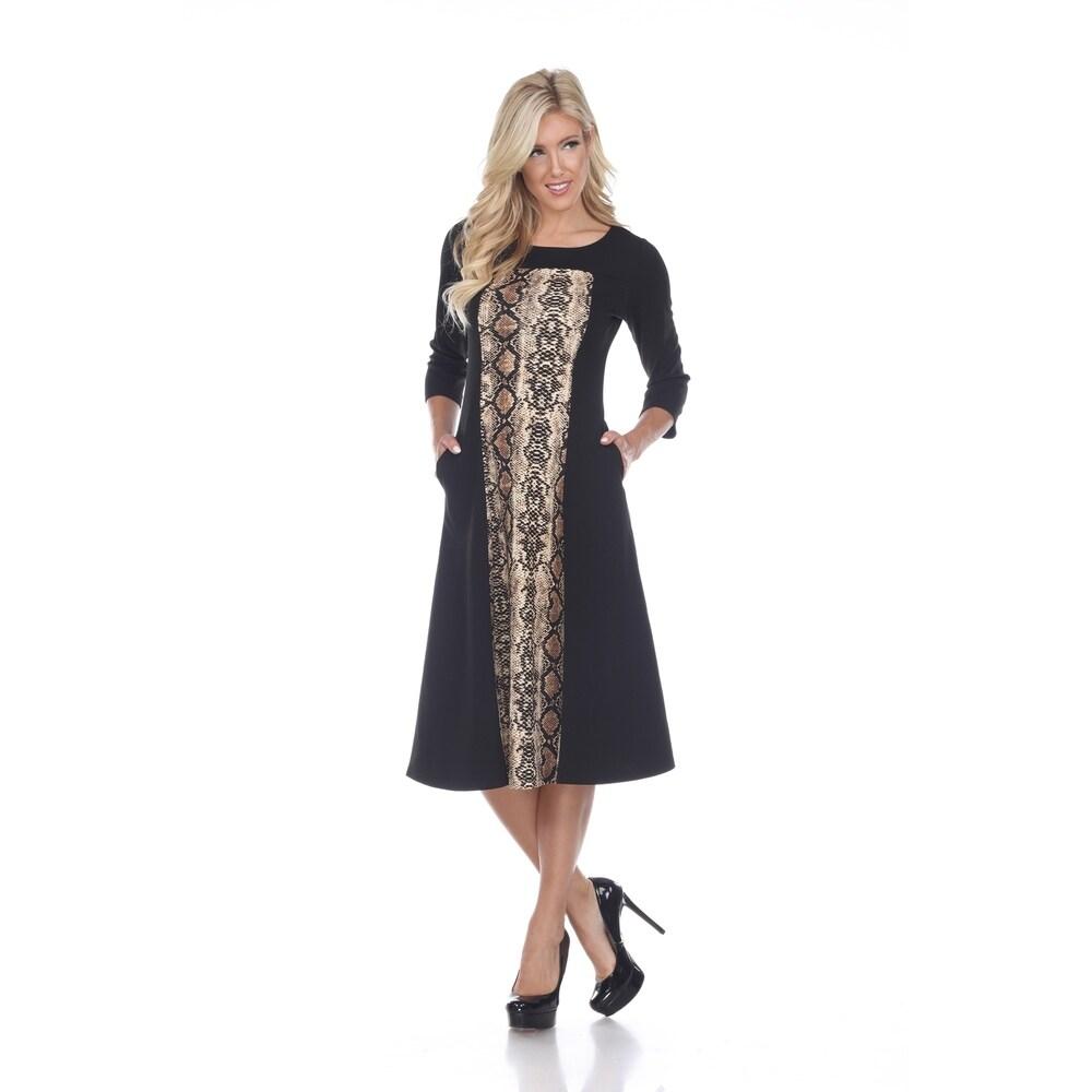 White Mark Womens Constance Midi Dress