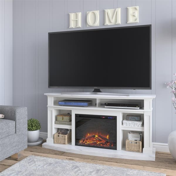 Shop Copper Grove Ungheni Fireplace Tv Stand Overstock 28981605
