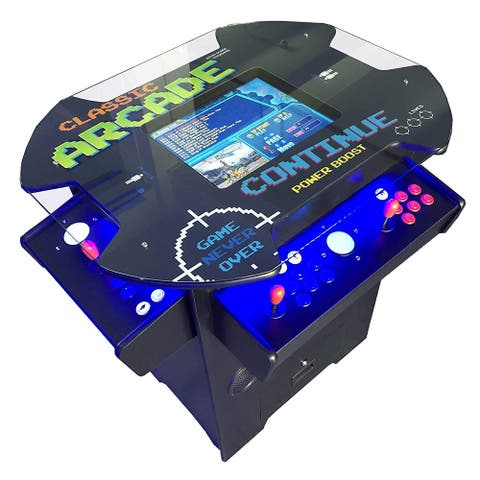 Creative Arcades 3,500 Classic Games 3 Sided 2 Player Oval Top Cocktail Arcade Machine - N/A