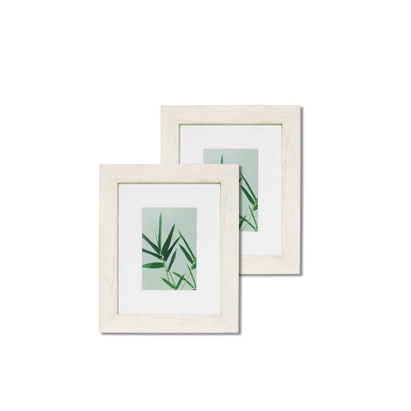 "Monteverde 8""x 10"" Wood w' Green Trim Frames - Set of 2"