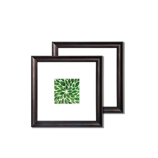 "Dominica 12""x 12"" Classic Bevel Frame - Ebony. Set of 2"