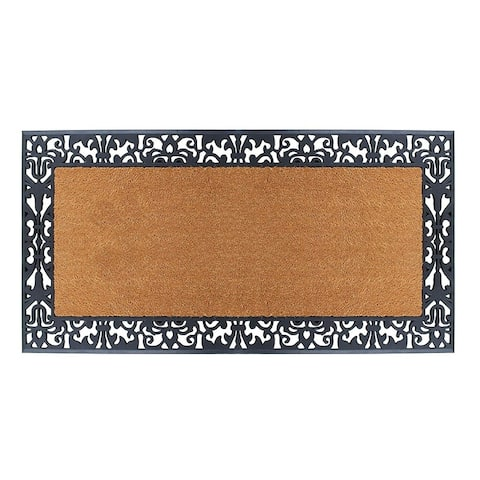 "A1HC First Impression Rubber and Coir, 30"" X 60"",Heavy Duty, Extra Large Size Doormat"