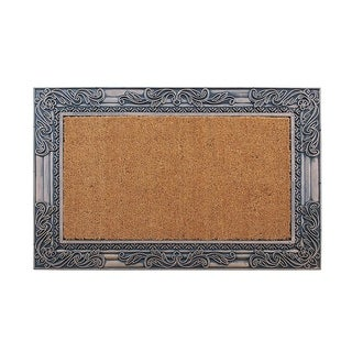 """A1HC First Impression Rubber and Coir Alba Bronze Finished Outdoor Doormat(24"""" X 36"""")"""