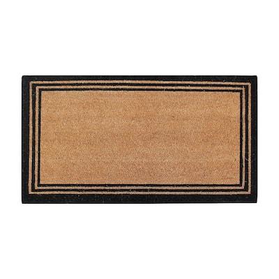 A1HC Natural Coir Doormat With Classic Border Outdoor Doormat