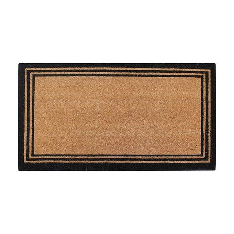 A1HC Natural Coir Doormat With Classic Border Outdoor Doormat