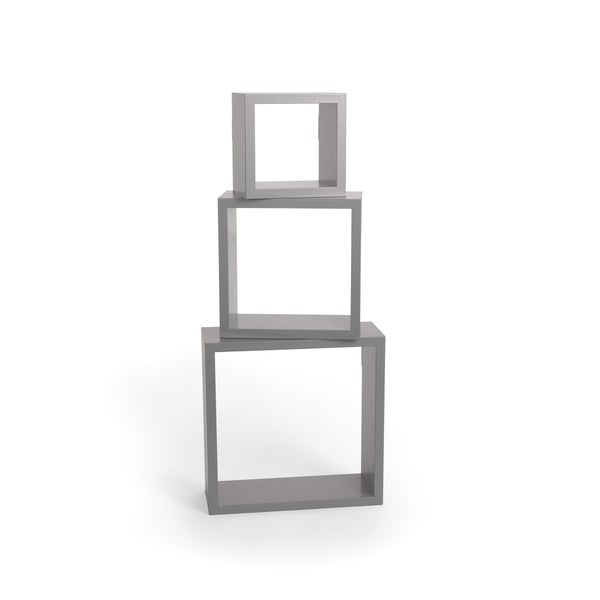 "Parkwood- Shelf Shadowbox- Set of three (5"", 7"", 9"") Grey"