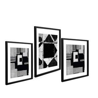 "Driftwood - Float Frame 3pc set - (1 ) 11"" x 14"" & (2) 8"" x 10"" Black"