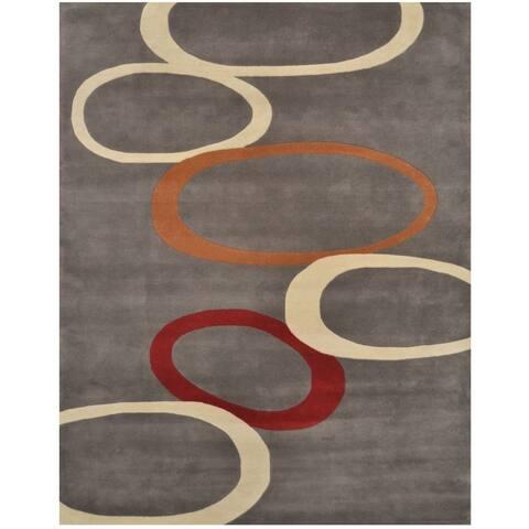 Handmade Tibetan Wool Rug (India) - 8' x 10'