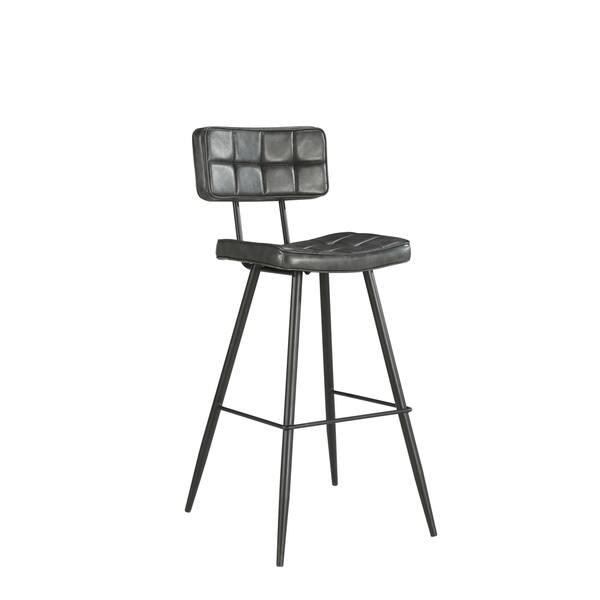 Miraculous Shop Laure Modern Kitchen Island Counter Stool 26H Grey Pu Machost Co Dining Chair Design Ideas Machostcouk