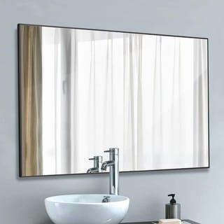 Modern Simple Metal Wall Mounted Bathroom Vanity Mirror With Hanging - 37.8x26