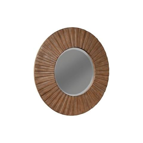 Alpine Furniture Brown Pearl Mirror, Brown Bronze