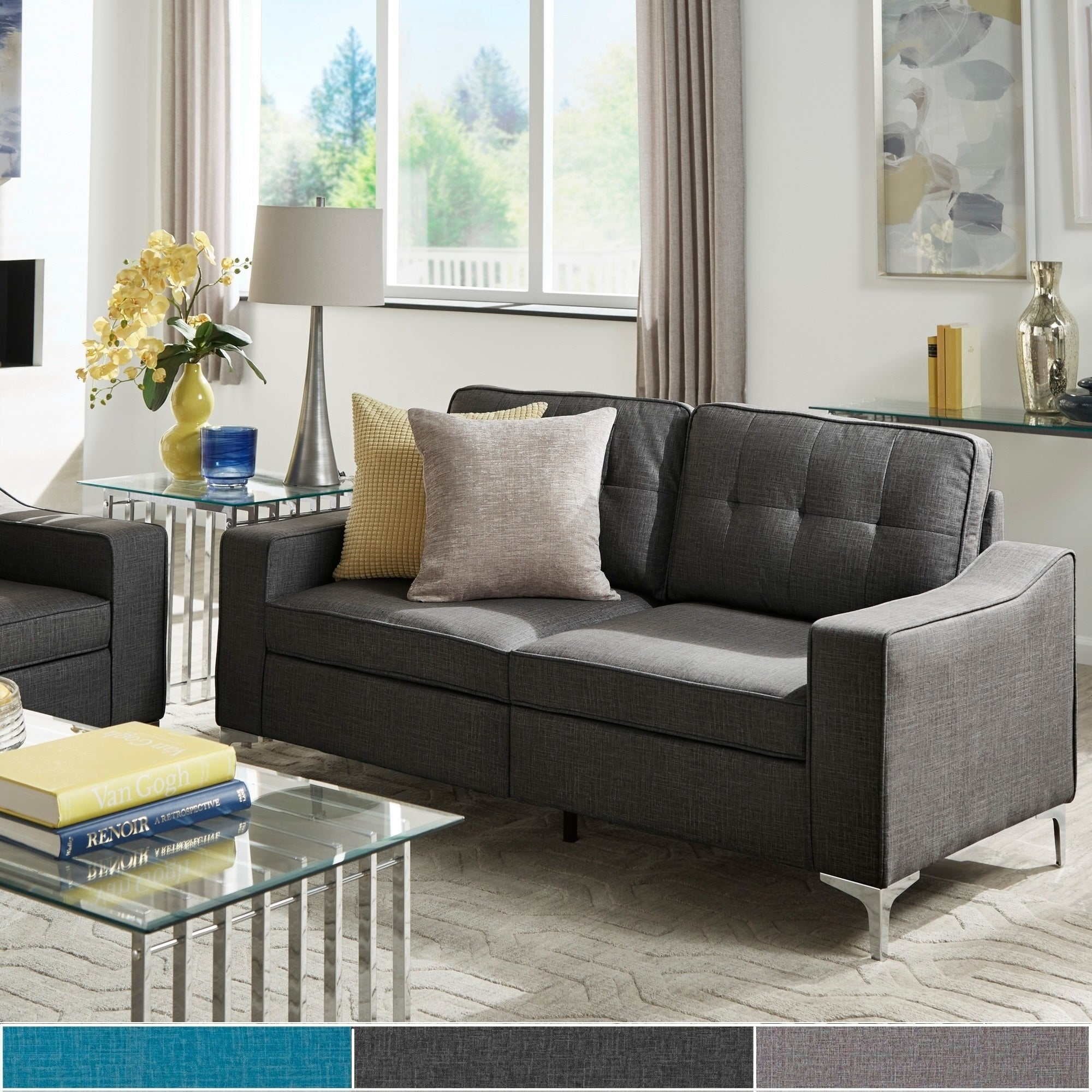 Roe Fabric Tufted Sofa By Inspire Q