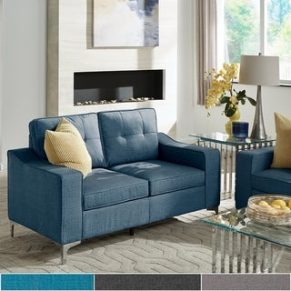 Roselle Fabric Tufted Loveseat by iNSPIRE Q Modern