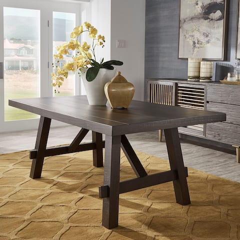 Rama Dark Espresso Finish Dining Table by iNSPIRE Q Classic
