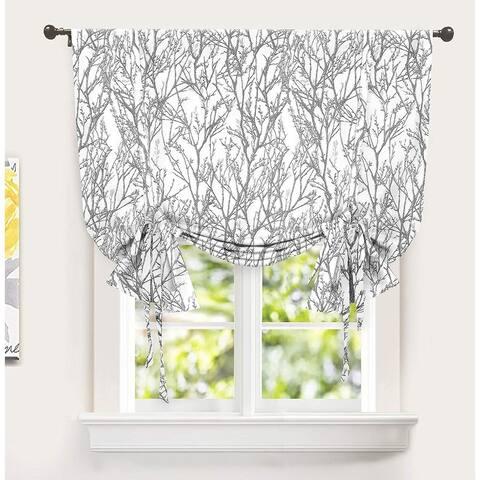 Porch & Den Pagosa Tree Branch Printed Tie-up Shade