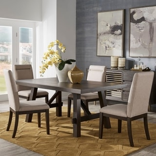 Rama Dark Espresso Finish Dining Set by iNSPIRE Q Classic