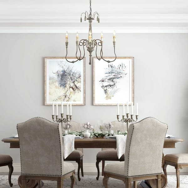 The Gray Barn Ingleside 5 Light Chandeliers French