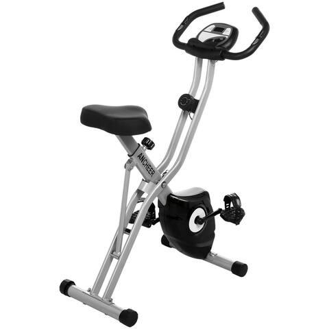 Folding 10 Levels Magnetic Resistance Upright Bike Fitness Equipment