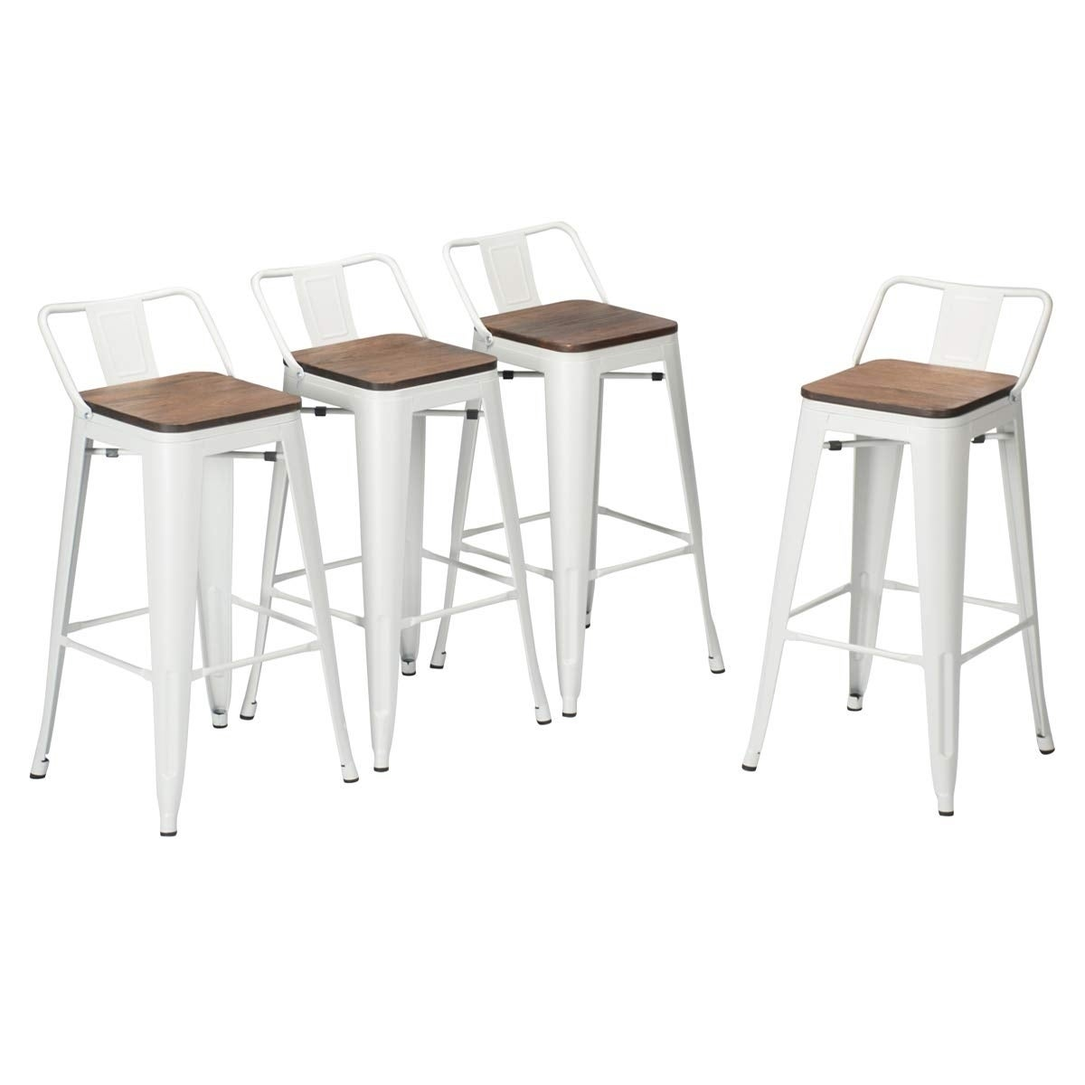 2 PACK High Top Chair Dining Room Furniture Counter Accessory Bar Stool Steel