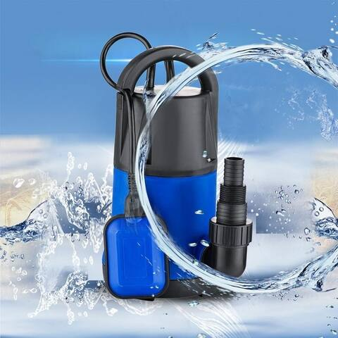 Submersible Water Pump 1100W 3400GPH Clean Dirty Pool Flood Drain US Plug - N/A